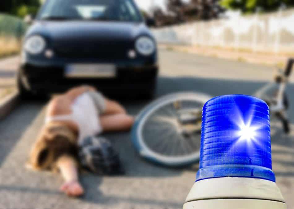 Unfall mit Radfahrer schlimm aber zum Glück gut versichert