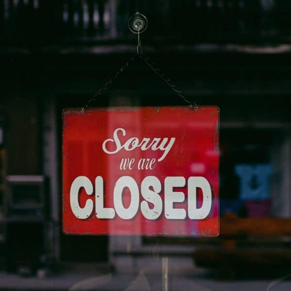 Closed because of corona virus