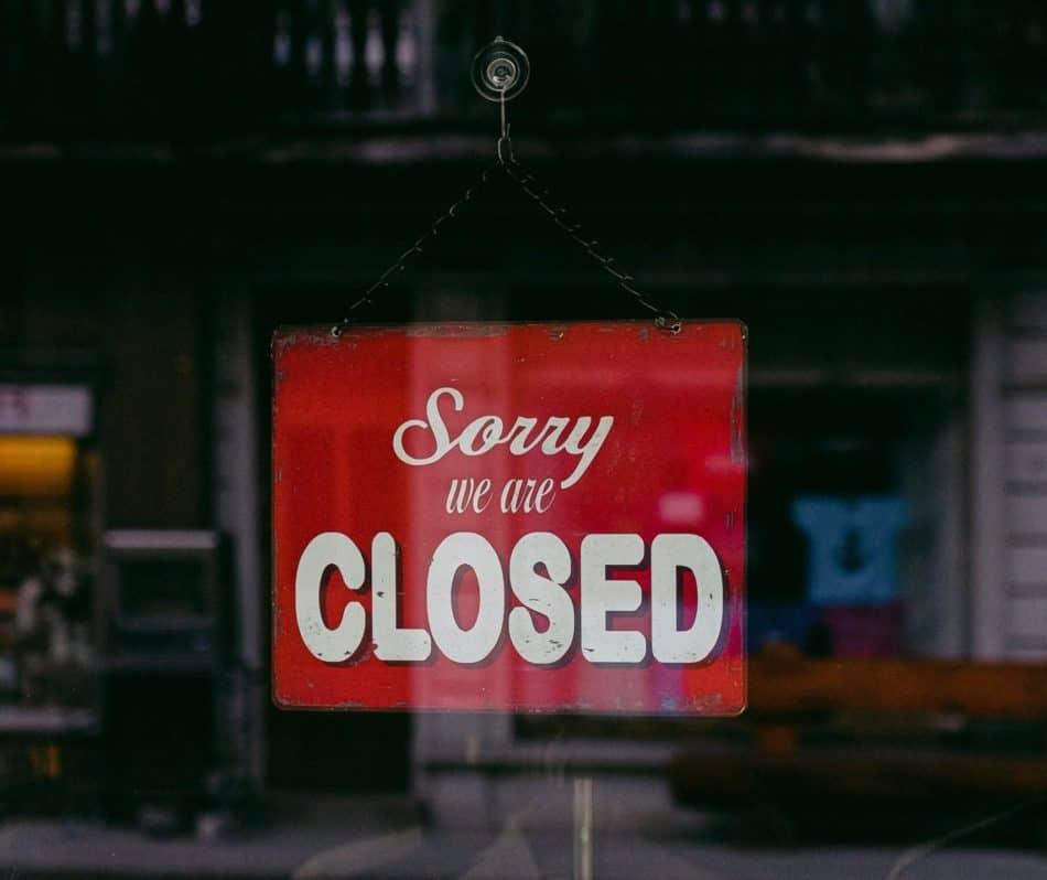 Closed because of corona virus