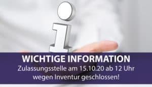 Info Zulassung